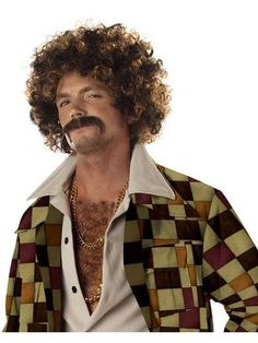 Check out Disco Dirtbag Blonde and Brown Wig and Mustache Adult - Costume Accessories for 2018 | Wholesale Halloween Costumes from Wholesale Halloween Costumes