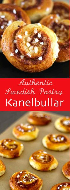 Kanelbullar are traditional little Swedish buns that are topped with softened…