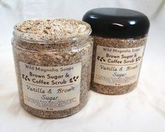 Treat your skin to this fragrant Raw Brown Sugar and Coffee Scrub. Made with Raw Demerara Brown Sugar and Coffee grounds along with Shea Butter, Jojoba Oil and Grape Seed Oil. This scrub gently exfoliates as it leaves your skin feeling fresh, soft and nourished.Scented with a blend of rich, creamy, sweet vanilla and brown sugar with a hint of the coffee - this smells so delicious.You get one scrub in a generous 8 oz jar.To Use: Please keep the lid on while #DarkSpotsOnFace Exfoliating For Men, Watermelon Face, Christmas Gift Sale, Brown Sugar Scrub, Whipped Soap, Honey Soap, Us Foods, Tin Gifts, Fractionated Coconut Oil