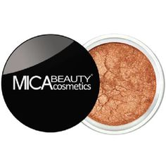 MicaBeauty Eye Shadow in Bronze MicaBeauty Mineral Eyeshadows are extremely gentle, free of preservatives, chemicals, dyes, talc, oils, and other fillers. With this unique formula, the eyeshadows will look ultra smooth and stay put for hours without creasing or pulling the delicate eye area. Can be mixed with clear lip-gloss, clear mascara, and clear nail polish to add pigment to lips, eyelashes and nails!   Bronze, a mid-toned shimmery brown. Mica Beauty Cosmetics Makeup Eyeshadow