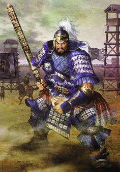 View an image titled 'Xiahou Yuan (Wei) Art' in our Dynasty Warriors 5 art gallery featuring official character designs, concept art, and promo pictures. Dynasty Warriors 5, Warriors Game, Old Warrior, Samurai Warrior, Character Art, Character Design, Chinese Armor, Old School Cartoons, Samurai Tattoo
