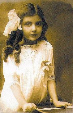 Grand Duchess Leonida as a young child, while still just a princess. Her grandfather, Prince Alexander, was killed by the Bolsheviks in 1918; the rest of the family fled for their lives but returned to Russia after 8 months in Germany. They remained in what was now the Soviet Union until 1931 when they fled for good. Leonida was 17.