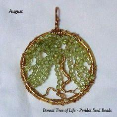 August's Birthstone - The Peridot Bonsai Willow Tree of Life