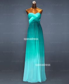 Long prom dresses sexy prom dresses green prom by sposadress, $158.00