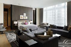 Yabu Pushelberg, W Hotel Guangzhou Home Bedroom, Bedroom Interior, Bedroom Design, Bedroom Hotel, Yabu Pushelberg, Hotel Design Architecture, Interior Design, Room, Hotel Furniture
