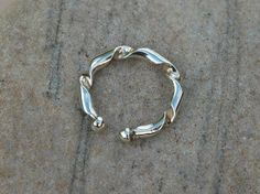 Sterling Silver Open Torc Ring,  R41D £16.00