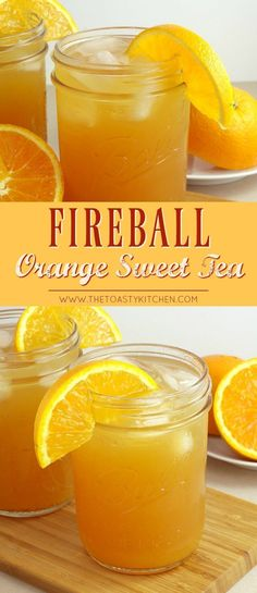 This isn't your momma's sweet tea! We like the spike our sweet tea with orange juice and, of course, Fireball!