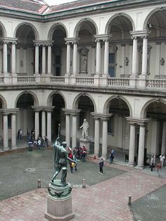 "The Pinacoteca di Brera (""Brera Art Gallery"") is the main public gallery for paintings in Milan, Italy. It contains one of the foremost collections of Italian paintings. Monuments, Milan Museum, Milan Travel, Italian Paintings, Genius Loci, Northern Italy, Milan Italy, Academia, Italy Travel"