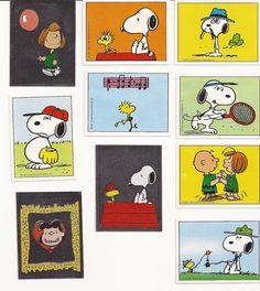 Vintage Peanuts Snoopy Woodstock Panini Stickers
