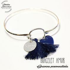 Bracelet JONC AMOR avec Gravure sur mesure * Création personnalisée * : Bracelet par chimere-melancolique