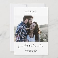 Minimalistic Elegant Save the Date Modern Save The Dates, Save The Date Photos, Save The Date Postcards, Wedding Save The Dates, Save The Date Cards, Wedding Engagement, Engagement Photos, Christmas Wedding Invitations, Simple Elegant Wedding