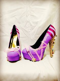 Rapunzel Rapunzel From Tangled Custom Rhinestone Heels/ by AWhimsicalHoot, $150.00