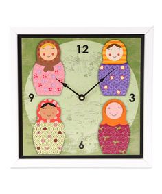 Take a look at this Nested Dolls Art Clock by Green Leaf Art on #zulily today!