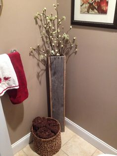 Decorative Rustic Pallet Vase (tall) by YankeeTreeBoxCo on Etsy https://www.etsy.com/listing/264170517/decorative-rustic-pallet-vase-tall