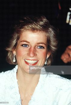 Diana, Princess of Wales, attends a dinner at the Chateau de Chambord during her official visit to France on November 9, 1988 in Chambord, France.
