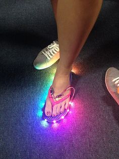 LED Flip Flops Add A Light Show To Your Casual Footwear #technology