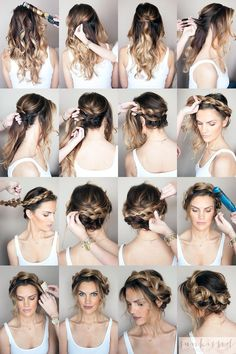 In case you are undecided about your coiffure, you're in the proper place. Recent Coiffure .com Get the Recent Newest, and Stylish Suggestions About Halo Braid Braided Hair Tutorial Please don't hesitate to Braided Crown Hairstyles, Braided Hairstyles Tutorials, Hairstyles With Bangs, Trendy Hairstyles, Braid Tutorials, Braided Updo, Updo Hairstyle, Everyday Hairstyles, Rainy Day Hairstyles