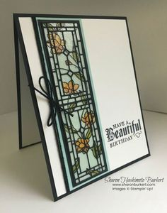 Painted Glass bundle and the Graceful Glass vellum birthday cards.