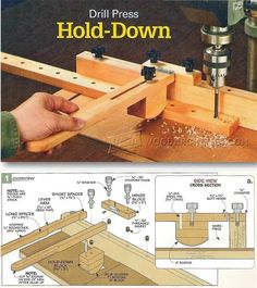 Drill Press Hold Down - Drill Press Tips, Jigs and Fixtures | WoodArchivist.com