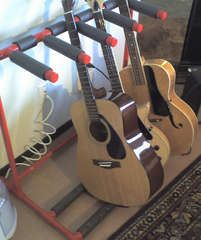pvc multiple guitar stand