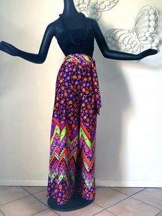 MOD Pucci Print Palazzo Pants Chevron Stripe by elliemayhems, $49.00