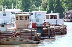 Barcazas en el Delta