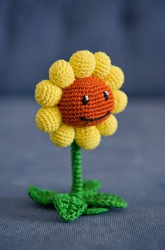 Crochet Pattern of Sunflower from Plants vs Zombies PDF by Aradiya, $2.99