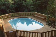 Neshanic deck with built in benches - traditional - Pool - Newark - Gem Builders Carpentry, LLC.