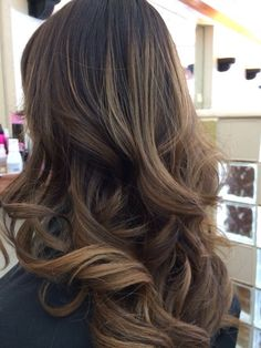MY DREAM CURLS! Absolutely PERFECT! Balayage ombre by LaSandra. Honey caramel.