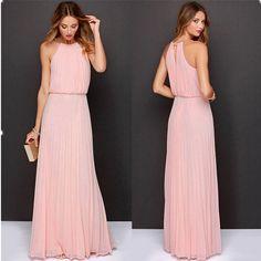 Summer Women Sexy Long Party Dresses Sleeveless Elegant Casual Pleated Chiffon Maxi Dress Vestido de festa New Plus Size 2015