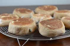 Whole Wheat Honey and Cinnamon Raisin English Muffins