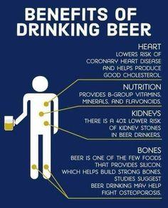 Drinking beer has benefits for your heart, nutrition, kidneys, and bones. beer Beer: 5 Benefits and 5 Disadvantages Benefits Of Drinking Beer, Beer Health Benefits, Beer Brewing, Home Brewing, Beer Quotes, All Beer, Best Beer, Beer Humor, Beer Recipes