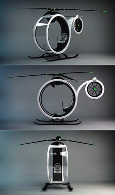 ZEROº Helicopter concept by Héctor del Amo.  for neighborhood strolls. ufo watching.