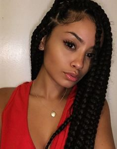 Top 60 All the Rage Looks with Long Box Braids - Hairstyles Trends Thick Box Braids, Short Box Braids, Blonde Box Braids, Black Girl Braids, Braids For Black Hair, Girls Braids, Cute Box Braids, Jumbo Box Braids, Long Braids