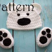 Bear set pattern - via @Craftsy