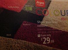 I like the funky fuchsia! It's the shaggy rug not the non shaggy rug! Argos! P=1133 (913/4403)