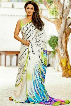 Gauri khan wears saree neatly and perfectly