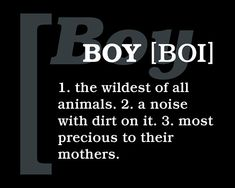 Definition Of A Boy Subway Art Print // Black and White //