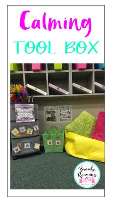 Give your students an area to calm down take a break. This calming tool box product is a must for your classroom.