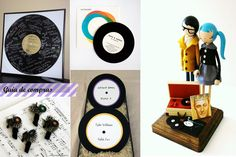 record themed party favors.