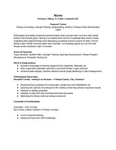 resume personal trainer foodcity me