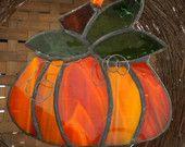Stained Glass Squat Pumpkin Suncatcher by GlassstoneStudio Stained Glass Angel, Stained Glass Ornaments, Stained Glass Christmas, Stained Glass Suncatchers, Stained Glass Designs, Stained Glass Projects, Stained Glass Patterns, Stained Glass Windows, Tiffany