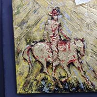 Show man. Horse Art, Gold Leaf, Leaves, Horses, Oil, Painting, Painting Art, Horse, Paintings