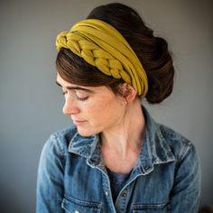 Garlands of Grace Katherine Bella Twist Handmade Headbands, Diy Headband, Turbans, Headband Hairstyles, Cool Hairstyles, Felt Hair Accessories, Hair Wrap Scarf, Fabric Jewelry, Hair Sticks