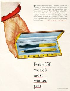 1947 Parker Pen Company Ad, Artzybasheff hand art, #RetroReveries