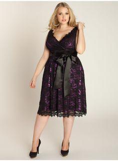 Leigh Lace Dress in Black Iris