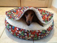 Doxie Snuggle bed, this seems to me the best doxiebed ever....