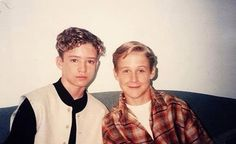 Justin Timberlake and Ryan Gosling :-)  I would just like to thank Mickey Mouse Club for this...they grew up to be 2 of the hottest men ever...