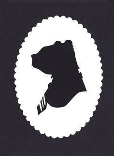 Hand Cut Bear Profile Silhouette via Etsy