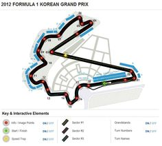 Formula 1 Korean Grand Prix Circuit Map Formula 1 Gp, Kart, Super Sport Cars, Map Design, World Of Sports, Slot Cars, Grand Prix, Race Tracks, Korean